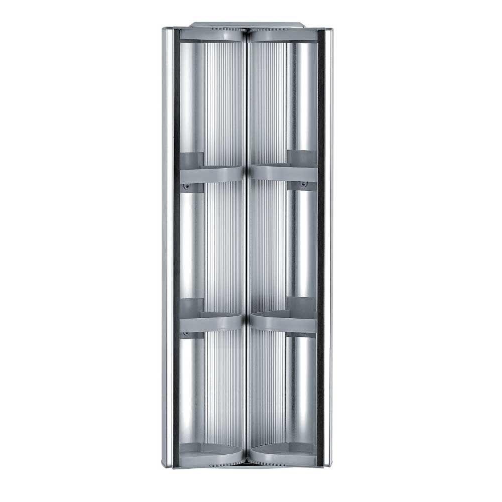 Whitehaus Collection Medicinehaus 13 in. W x 32 in. H x 6-3/4 in. D Frameless Aluminum Surface-Mount 2 Door Bathroom Medicine Cabinet