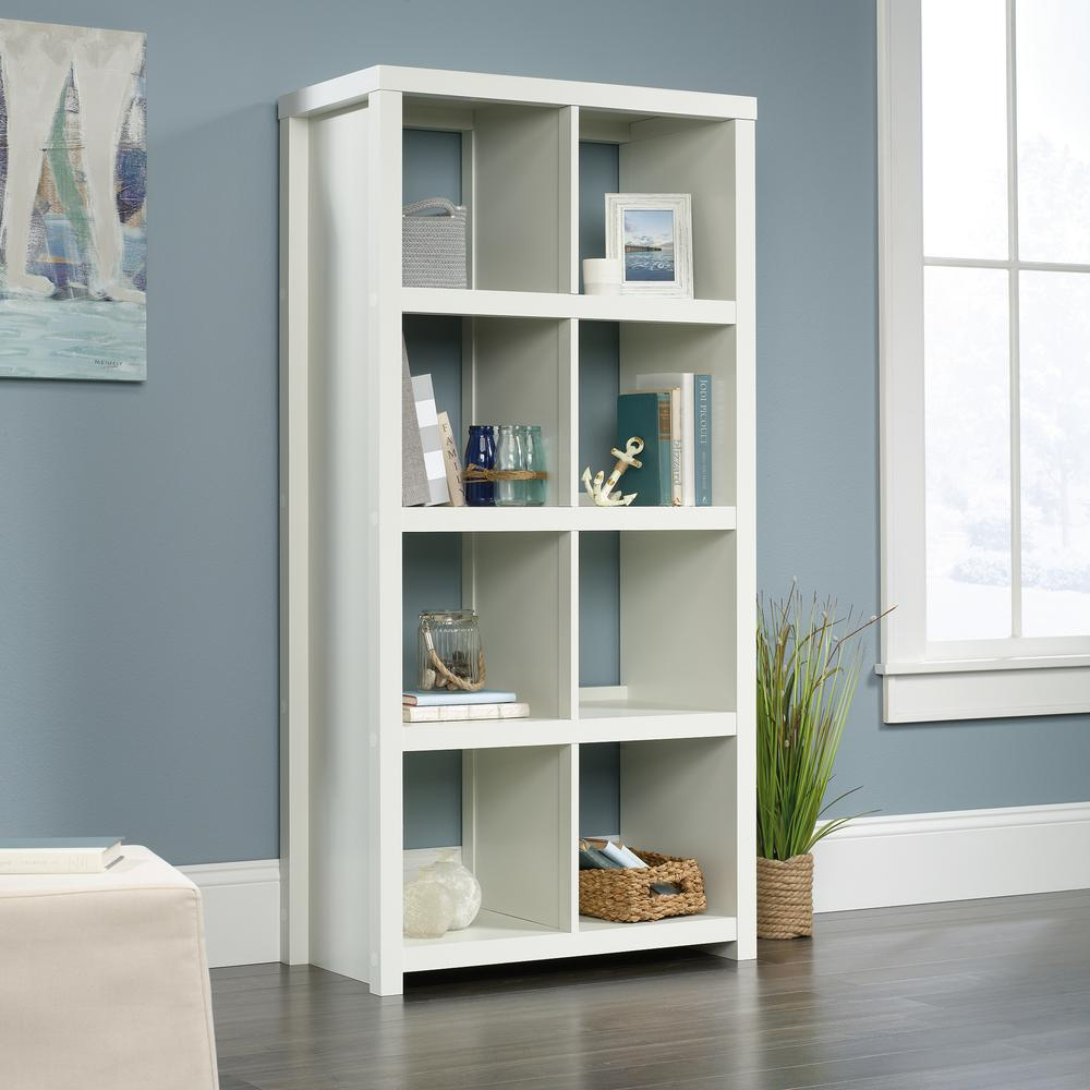 HomeVisions Soft White 8-Cube Bookcase-425049 - The Home Depot