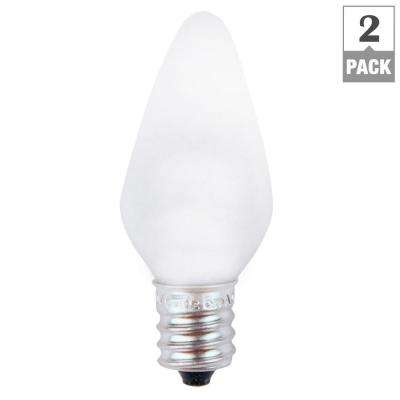 7W Equivalent Bright White C7 Non-Dimmable LED Replacement Light Bulb (2-Pack)