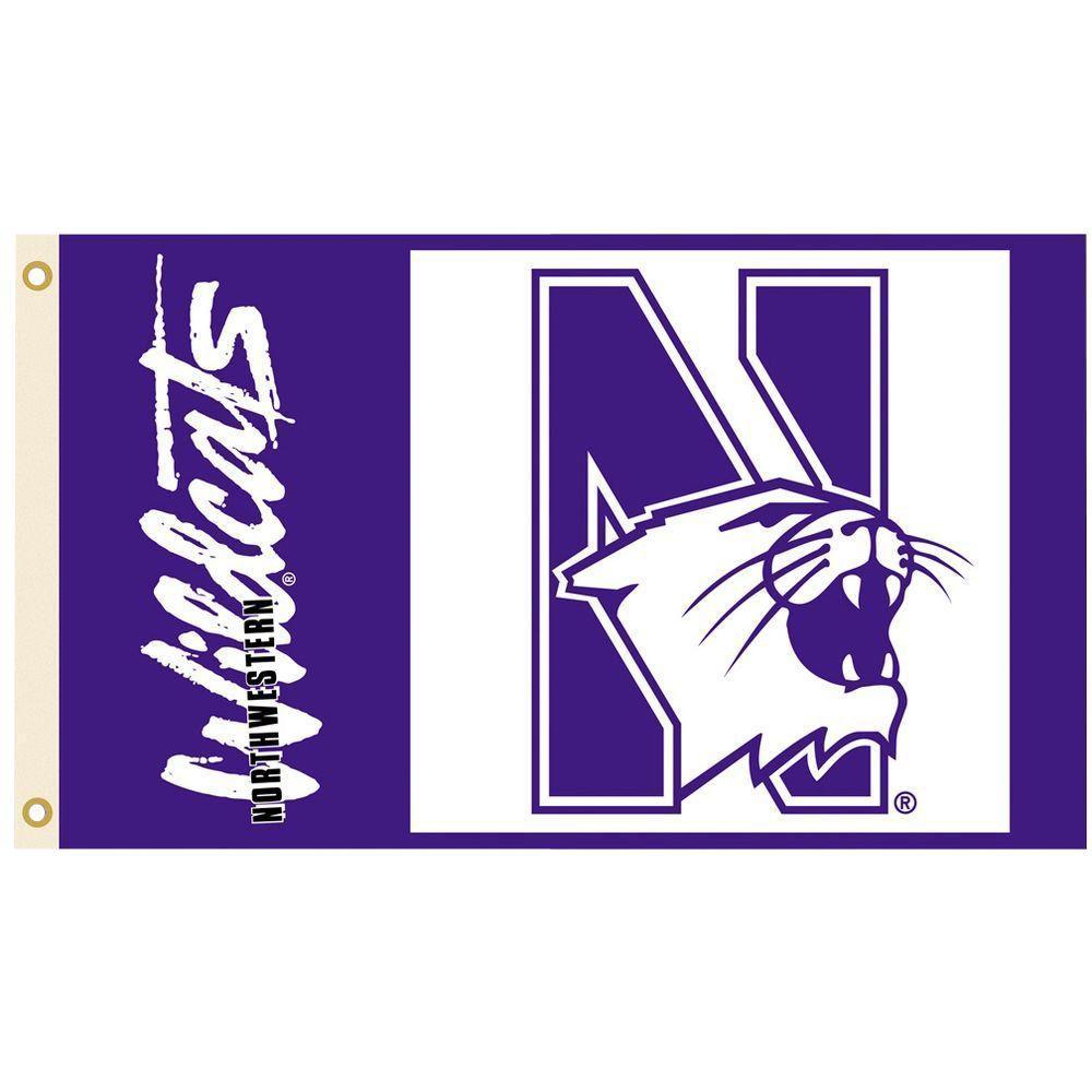 BSI Products NCAA 3 ft. x 5 ft. Northwestern Flag
