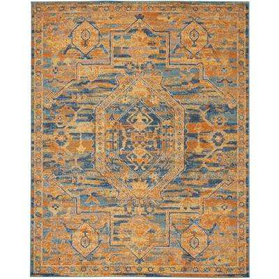 Passion Teal/Sun 8 ft. x 10 ft. Area Rug