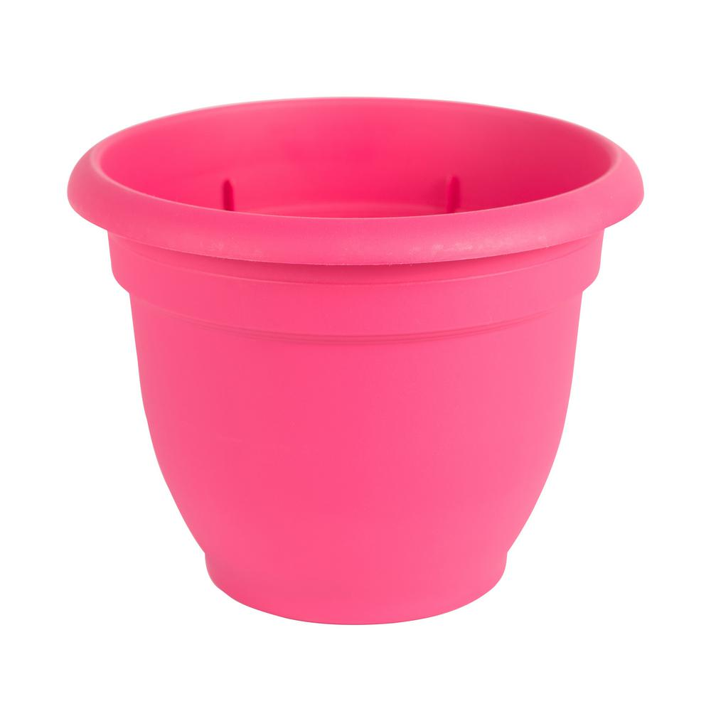 Ariana 12 in. Amaranth Plastic Self Watering Planter