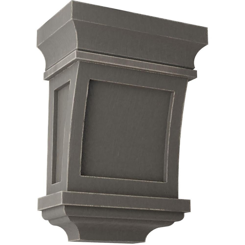 5 in. x 7 in. x 3 in. Reclaimed Grey Santa Fe Wood Vintage Decor Corbel