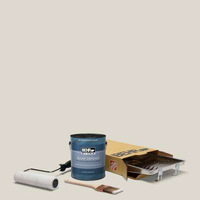 1 gal. #N320-1 Campfire Ash Extra Durable Satin Enamel Interior Paint and 5-Piece Wooster Set All-in-One Project Kit