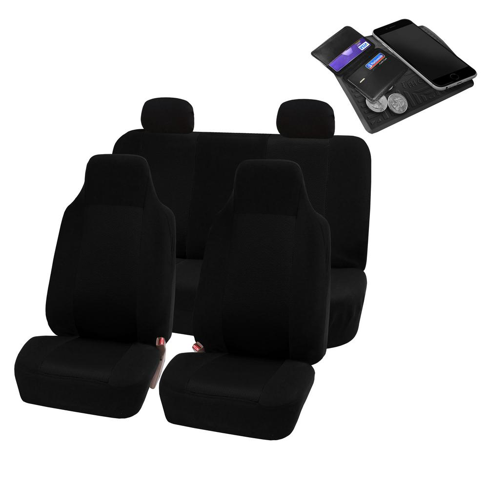 FH Group Sandwich Fabric 47 in. x 23 in. x 1 in. Full Set Car Seat Covers