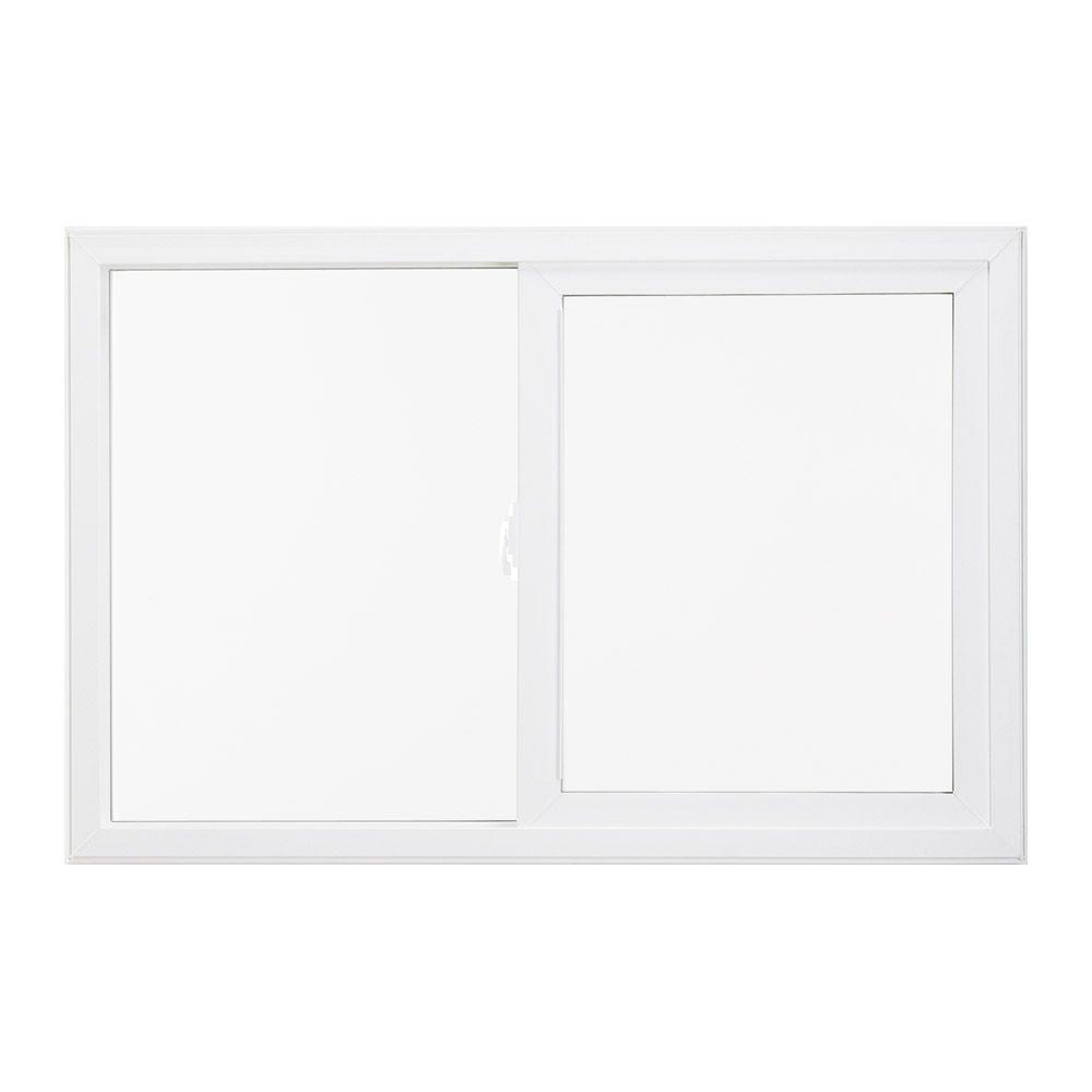 35.5 in. x 47.5 in. V-2500 Series Left-Hand Sliding Vinyl Window