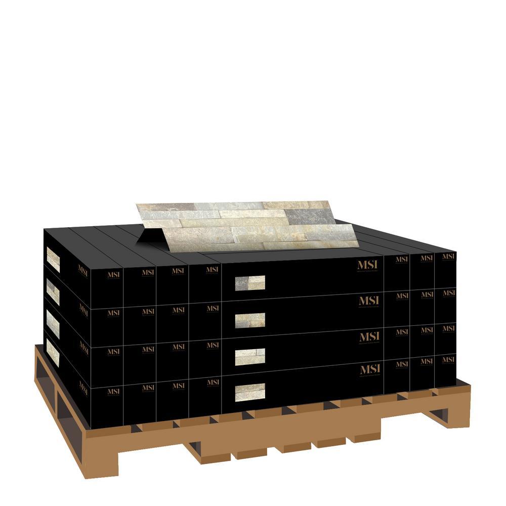 Golden Honey Ledger Panel 6 in. x 24 in. Natural Quartzite Wall Tile (10 cases / 80 sq. ft. / pallet)