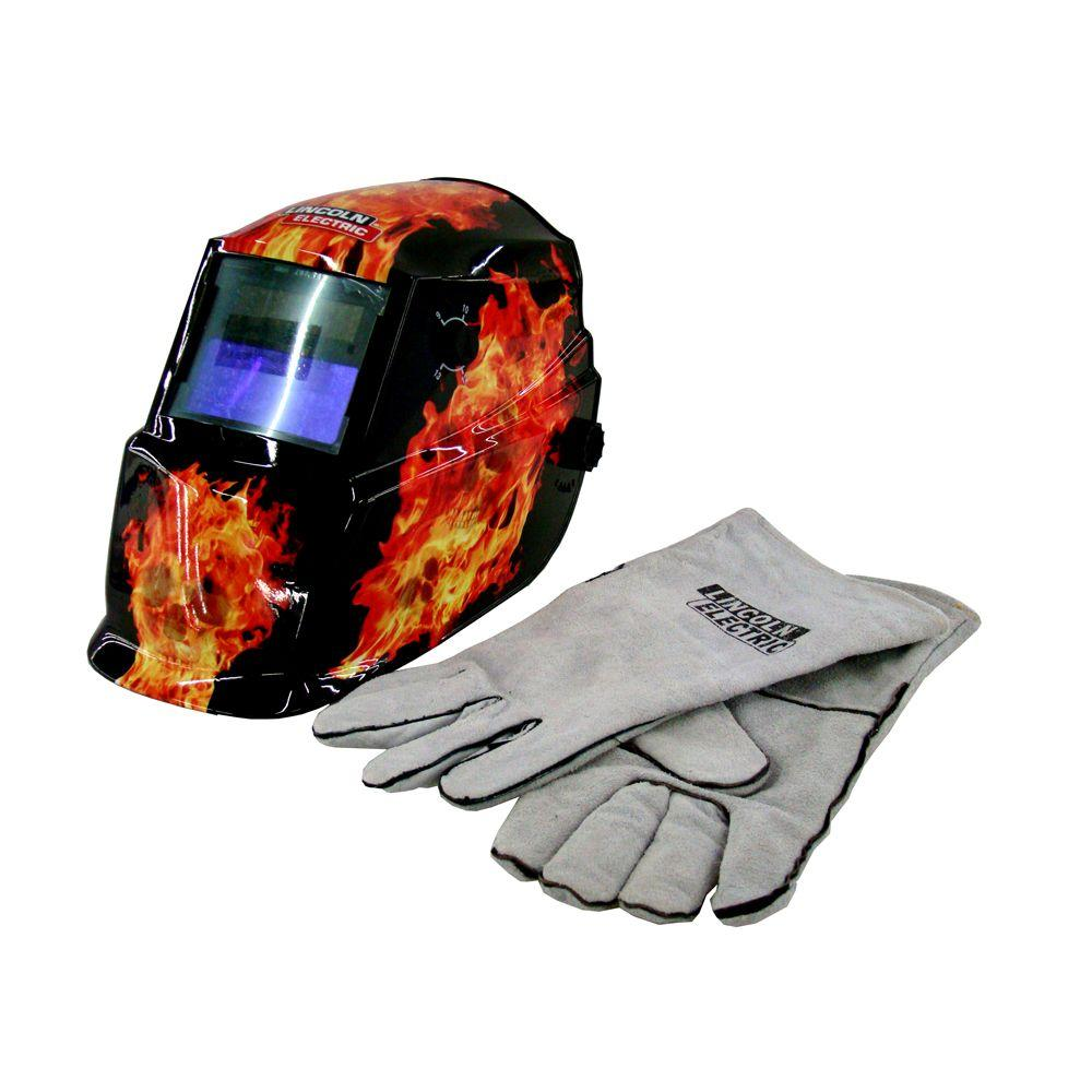 Lincoln Electric 3-7/8 in. x 1-3/4 in. 9-13 Shade Welding Helmet