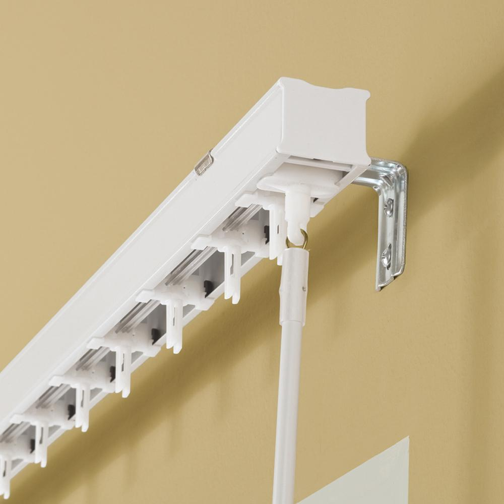 Hampton Bay 97.5 in. W Head Rail for 3-1/2 Vertical Blind in White