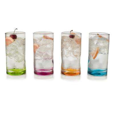 Impressions Colors 16.5 oz. 4-piece Cooler Glass Set