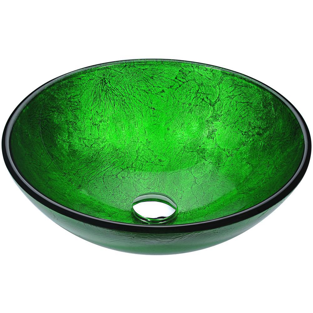 Posh Series Deco-Glass Vessel Sink in Verdure Green