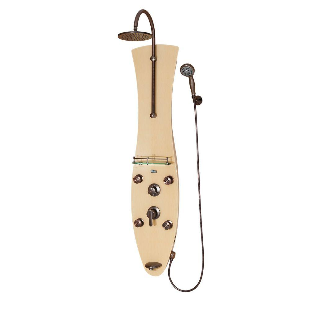 PULSE Showerspas Molokai 4-Jet Shower System in Oil Rubbed Bronze Finish-DISCONTINUED