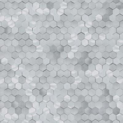 Cool Grey Shimmering Hexagons
