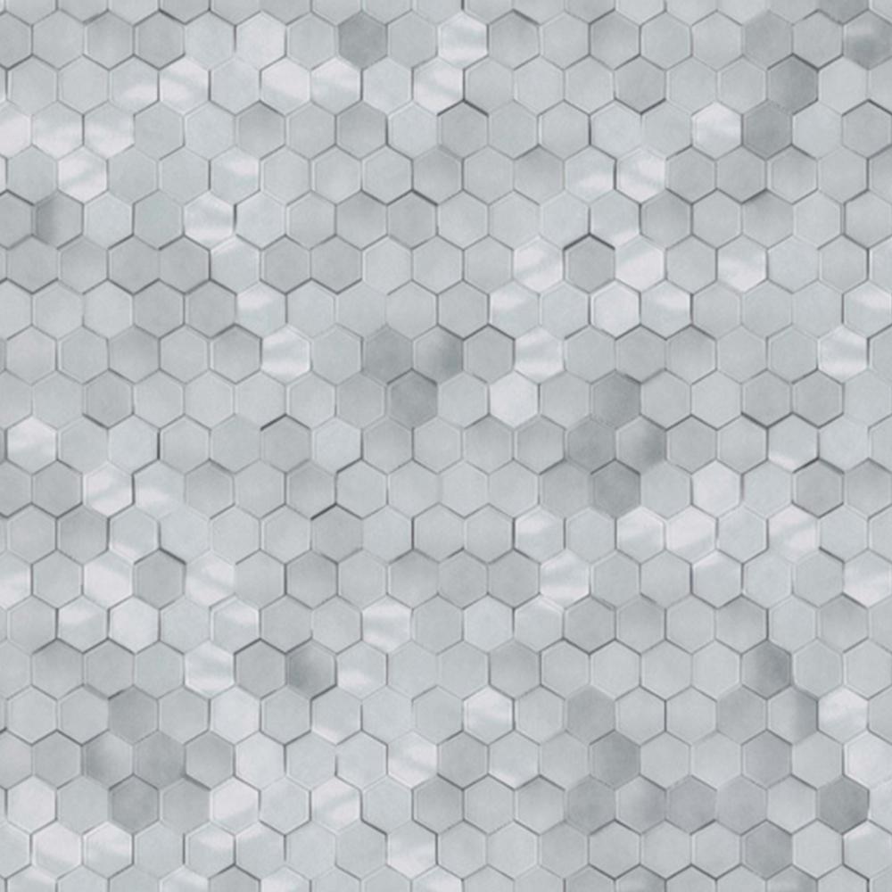 Walls Republic Cool Grey Shimmering Hexagons