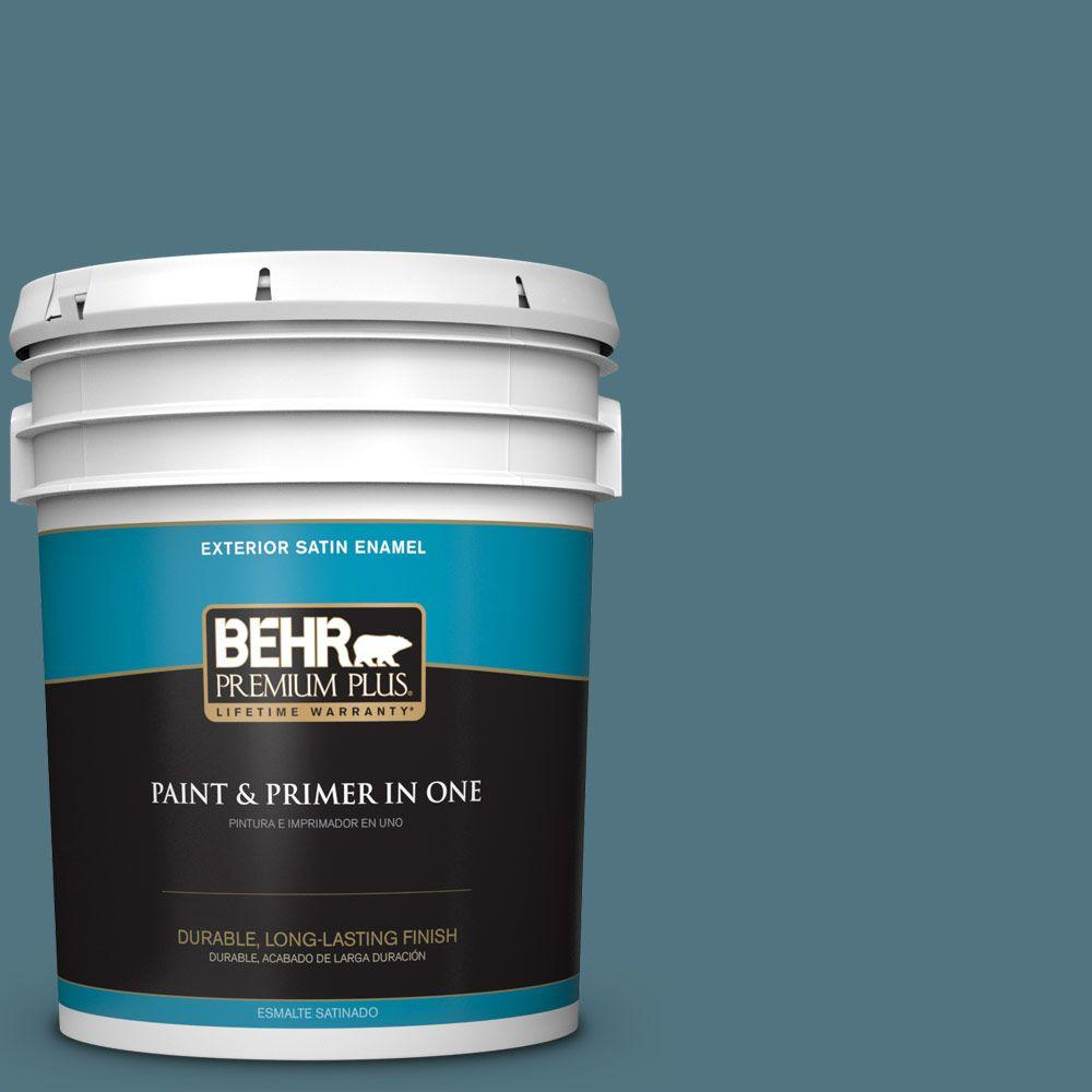 5-gal. #ECC-54-2 Country Lake Satin Enamel Exterior Paint