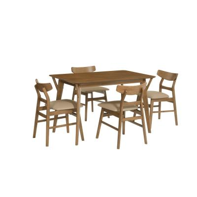 Marlow Toffee Dining Table with Upholstered Chairs Included (Set of 4)