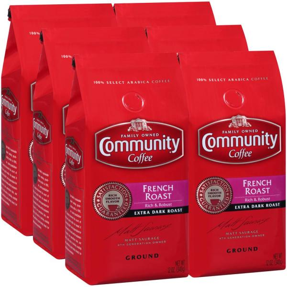 Community Coffee 12 oz. French Roast Extra Dark Roast Premium Ground