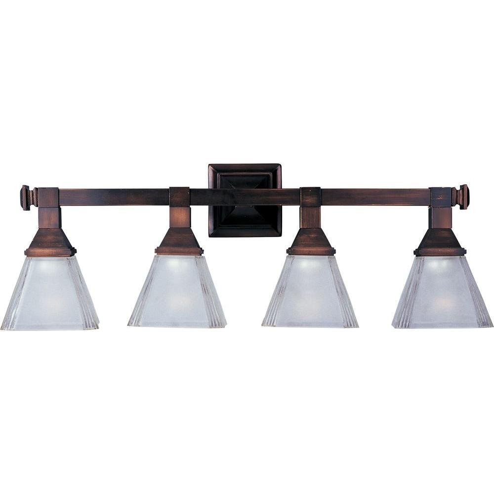 Brentwood 4-Light Oil-Rubbed Bronze Bath Vanity Light