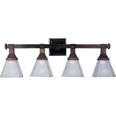 Brentwood 4-Light Oil-Rubbed Bronze Bath Vanity Light