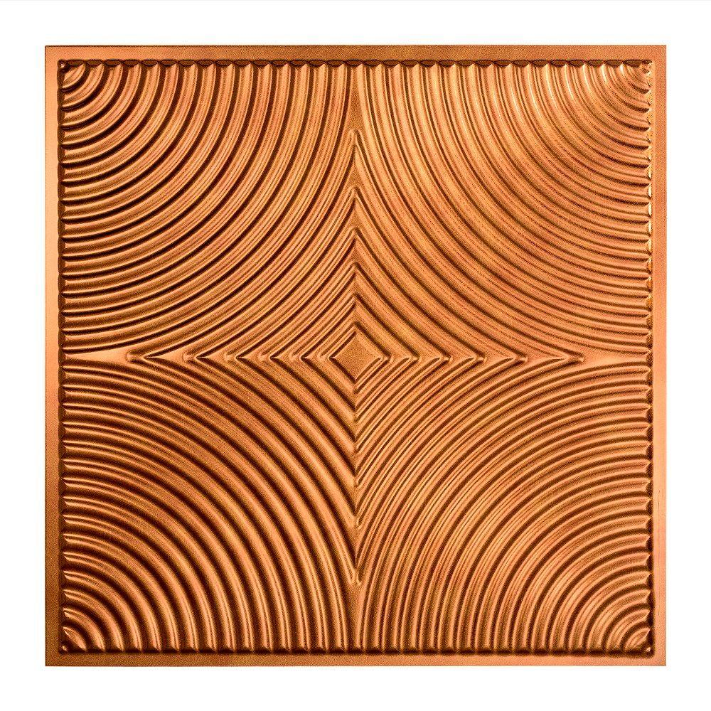 Fasade Echo - 2 ft. x 2 ft. Lay-in Ceiling Tile in Antique Bronze