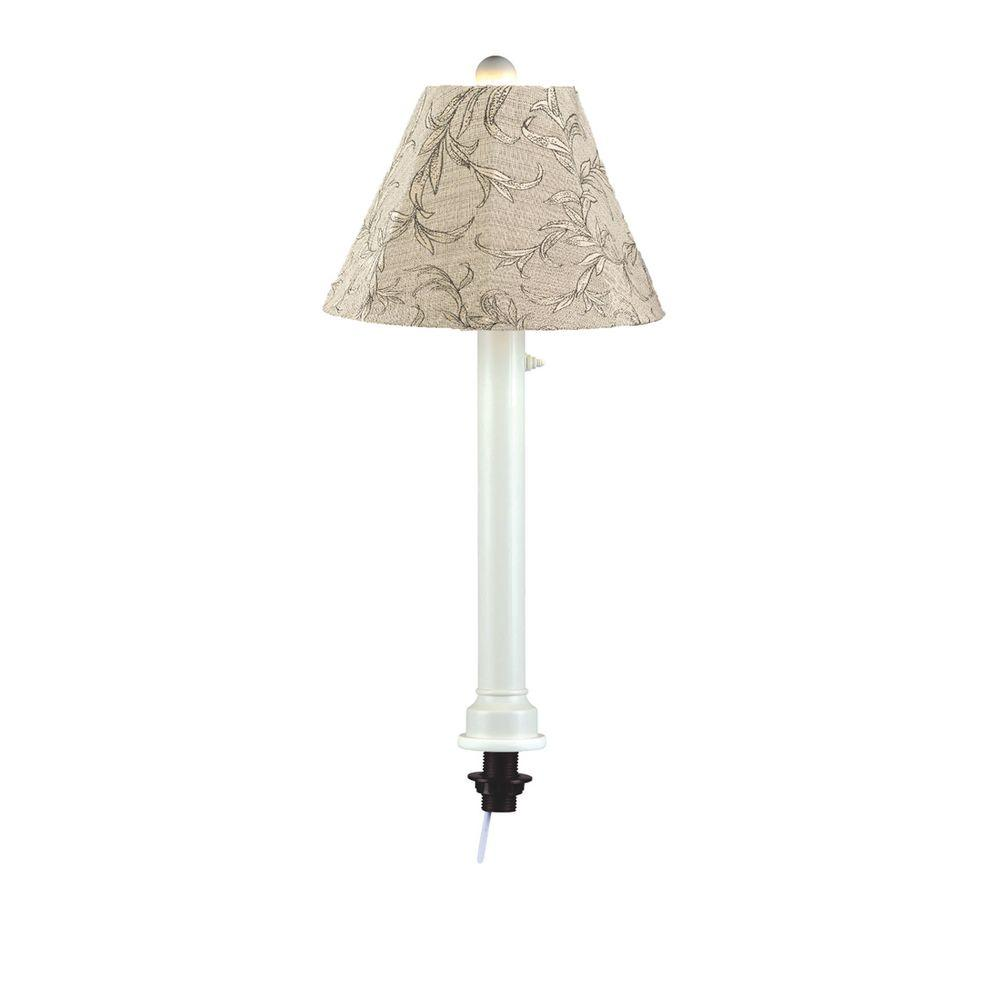 Patio Living Concepts Catalina 28 In White Umbrella Outdoor Table Lamp With Bessmer Shade