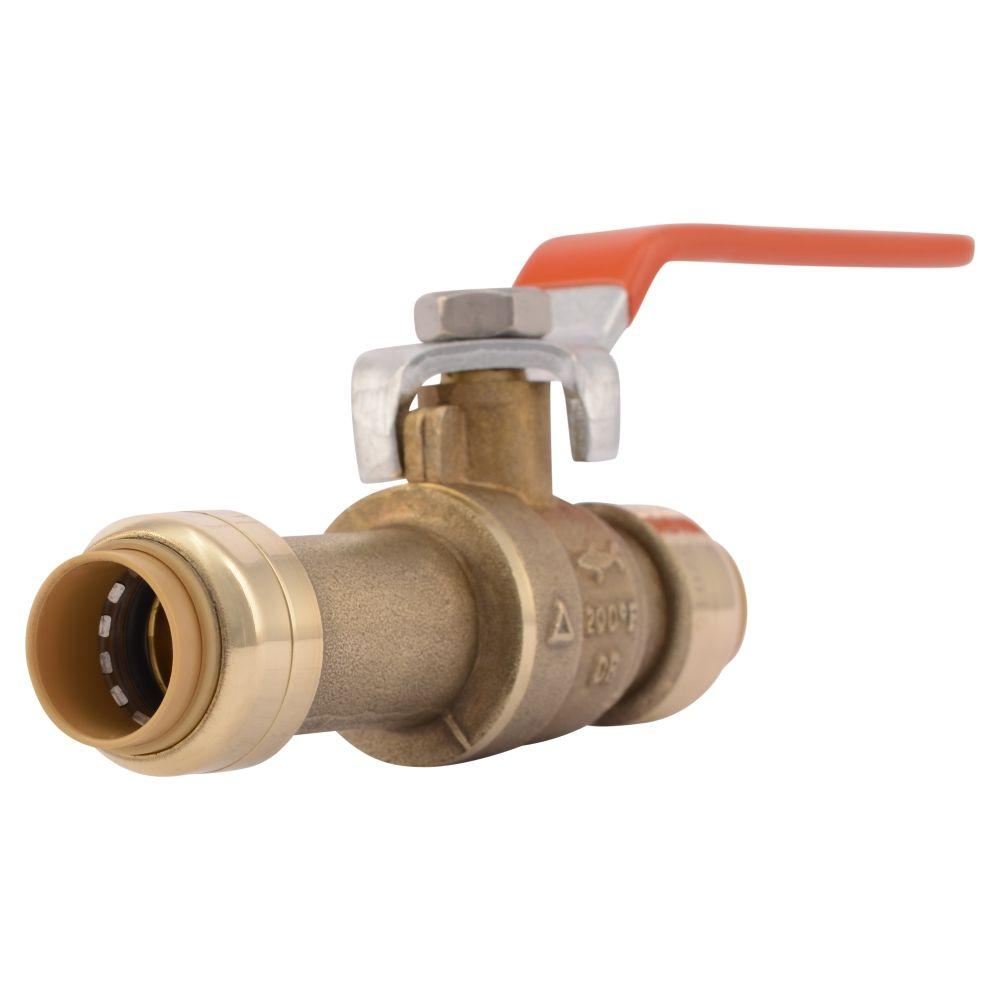 SharkBite 1/2 in. Push-to-Connect Brass Slip Ball Valve