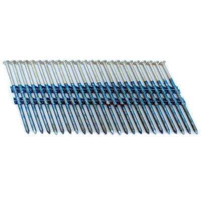 3 in. x 0.121 in. 20-Degree Smooth Hot Dip Full Round Head Plastic Strip Nails 3000 per box