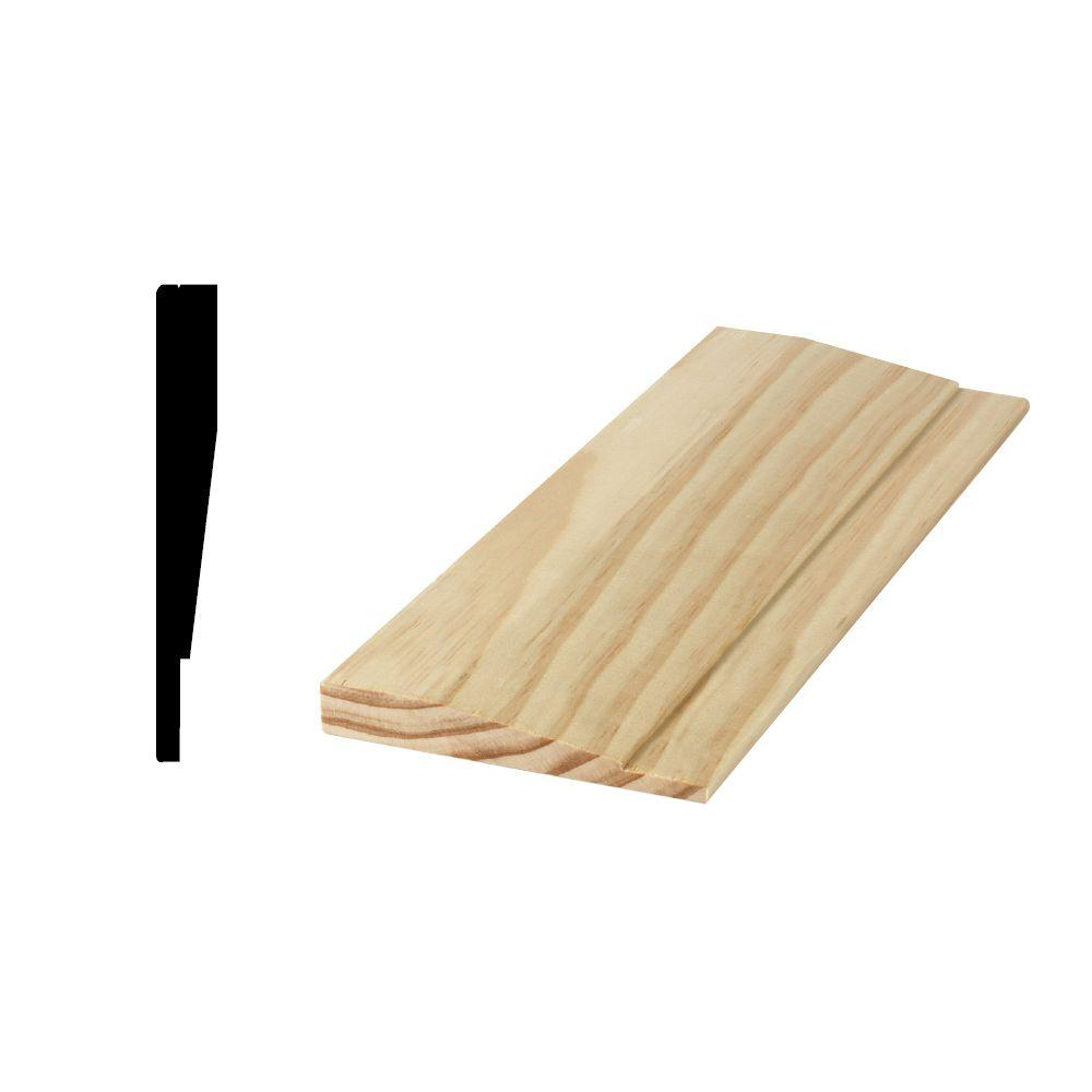 Woodgrain Millwork 11/16 in. x 4-1/2 in. x 81-11/16 in. Finger-Jointed Split Jamb Extender B Side Member