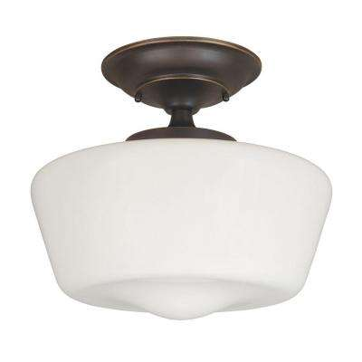 Luray 1-Light Oil-Rubbed Bronze Semi-Flush Mount Light