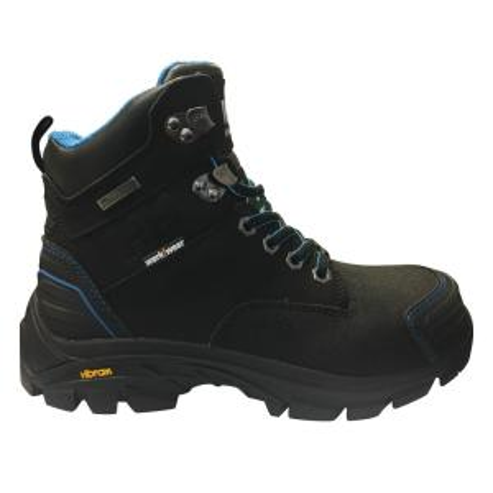 dde84583cb6e Helly Hansen Bergen Women s 6 in. Size 7 Black Leather Composite Toe  Waterproof Work Boot-FHHW181S-O1-07 - The Home Depot