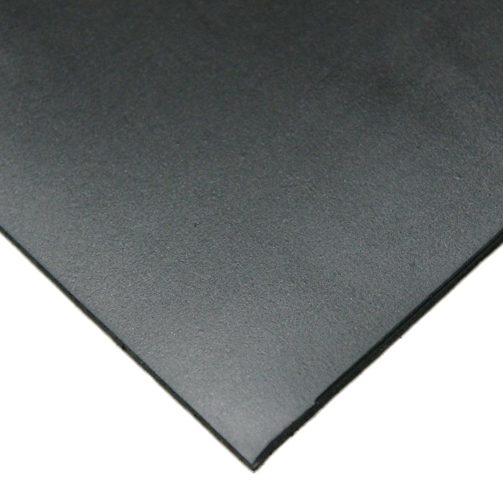 Neoprene 1/8 in. x 24 in. x 12 in. Commercial Grade 45A Soft Rubber Sheet Rolls