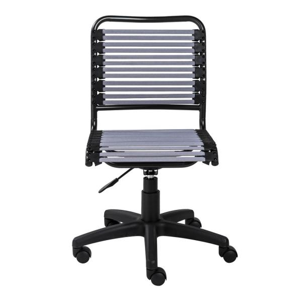Gray Flat Low Back Office Chair