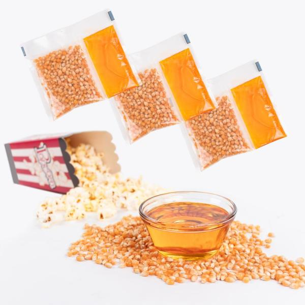 25 Qty popcorn pack all in one kit popcorn oil and seasoning 8oz