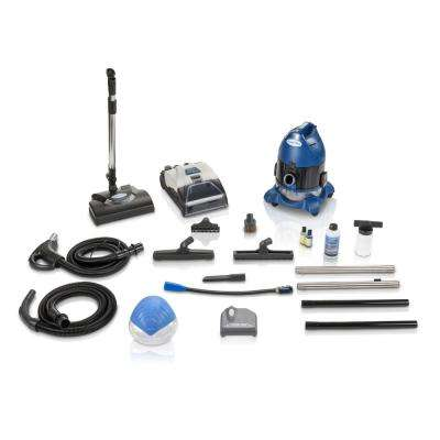 Water Filtration Bagless Canister Vacuum Cleaner W. Shampooer Air Purifier & Attachments