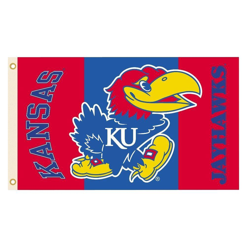 NCAA Kansas Jayhawks 2-Sided 3 ft. x 5 ft. Flag with