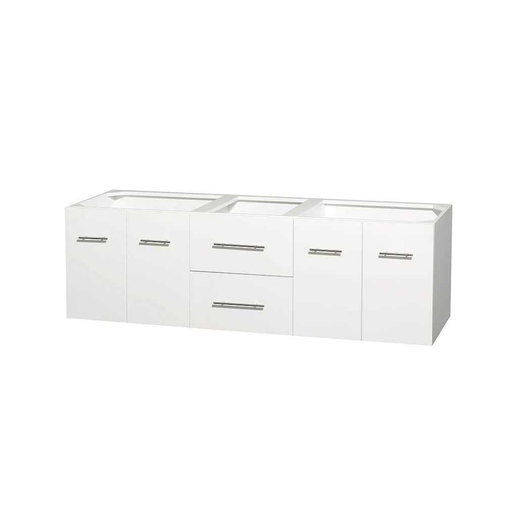 Wyndham Collection Centra 71 in. Double Vanity Cabinet Only in White