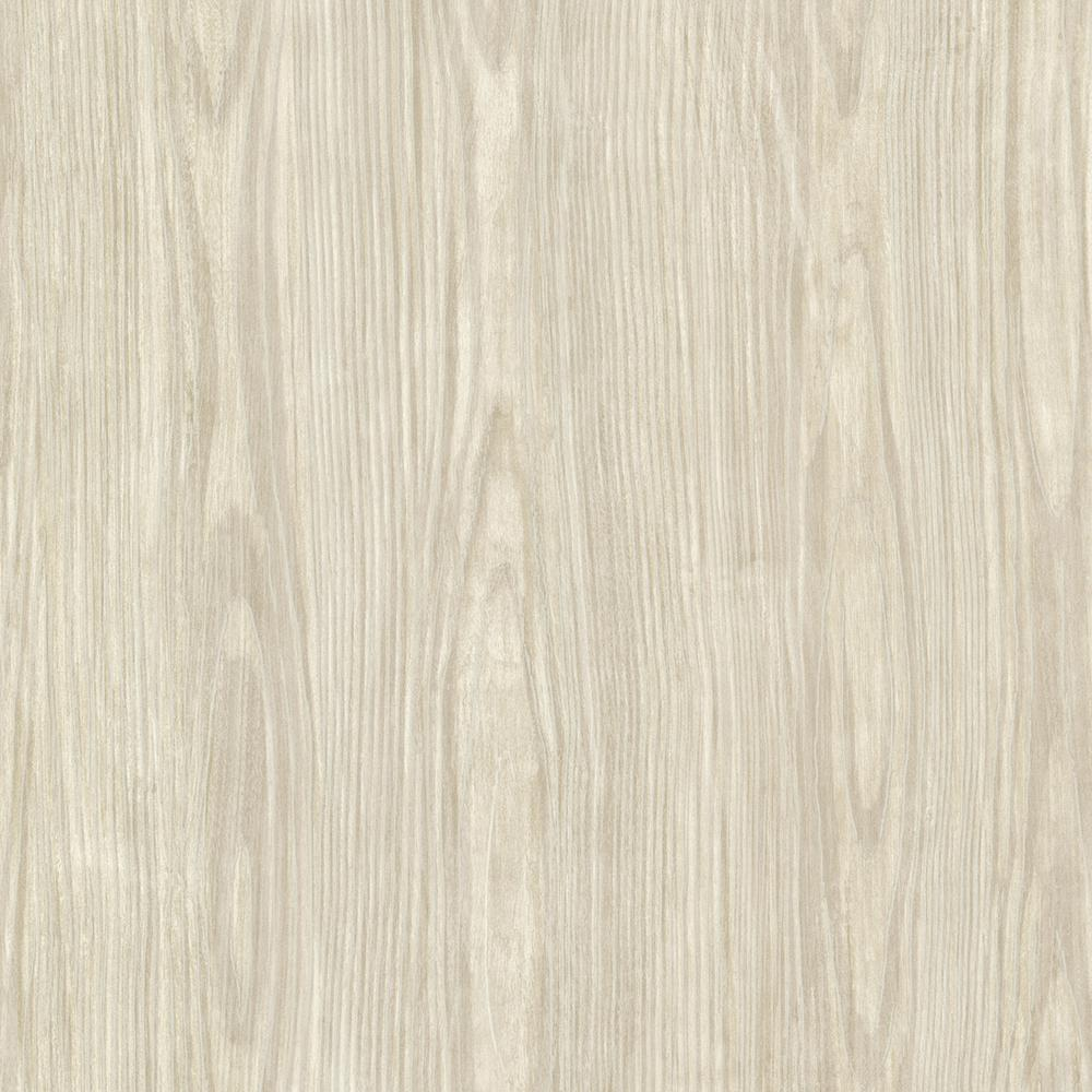 Brewster Beige Tanice Faux Wood Texture Wallpaper