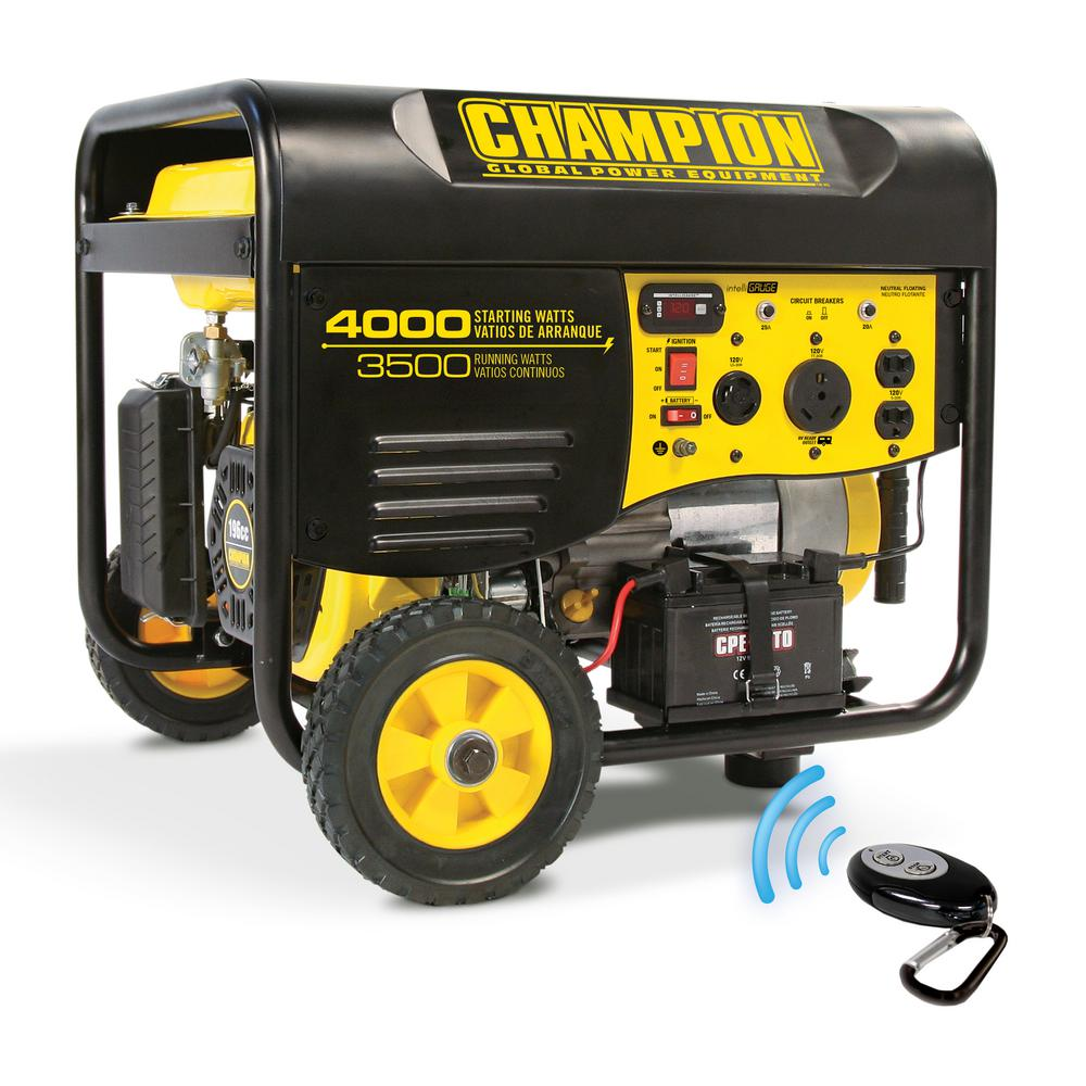 champion power equipment portable generators 46565 64_1000 champion power equipment 3,500 watt gasoline powered electric  at bayanpartner.co