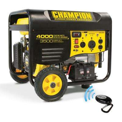 3,500-Watt Gasoline Powered Electric Start Portable Generator with Remote