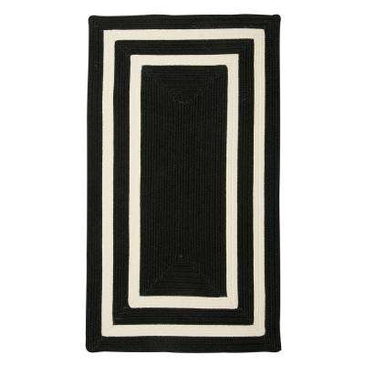 Griffin Border Black/White 3 ft. x 5 ft. Braided Indoor/Outdoor Area Rug