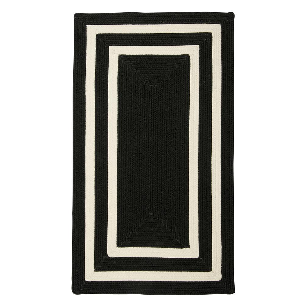 Home Decorators Collection Griffin Border Black White 8 Ft X 11 Ft Braided Indoor Outdoor Area Rug
