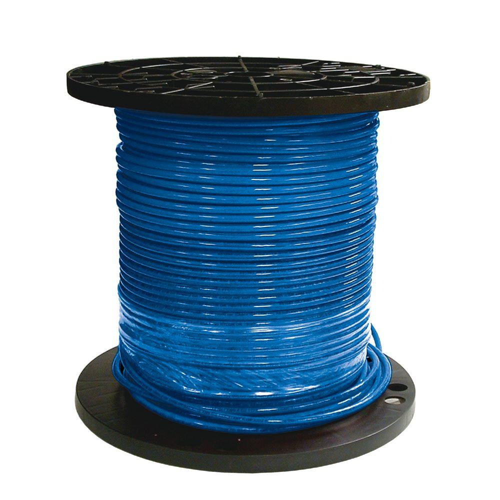 Southwire 500 ft. 8 Blue Stranded CU SIMpull THHN Wire-20491712 ...