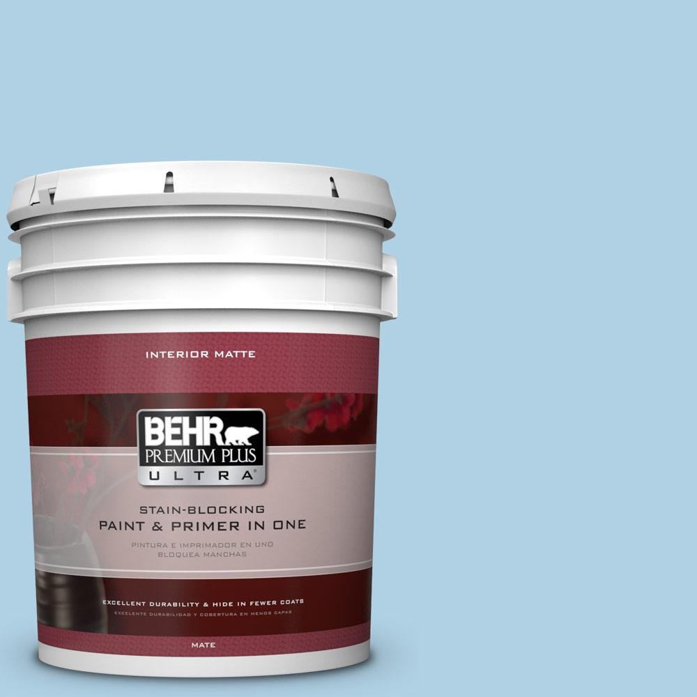BEHR Premium Plus Ultra 5 gal. #560C-3 Holiday Road Matte Interior Paint and Primer in One