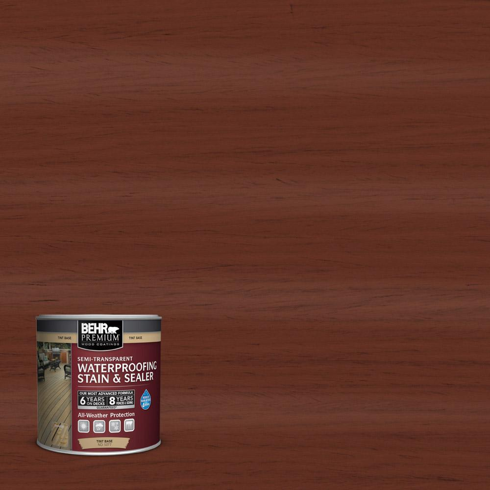 BEHR Premium 8 oz. #ST118 Terra Cotta Semi-Transparent Waterproofing Stain and Sealer Sample