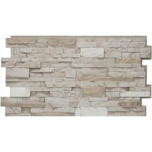Urestone 24 In X 48 In Stacked Stone 45 Almond Taupe