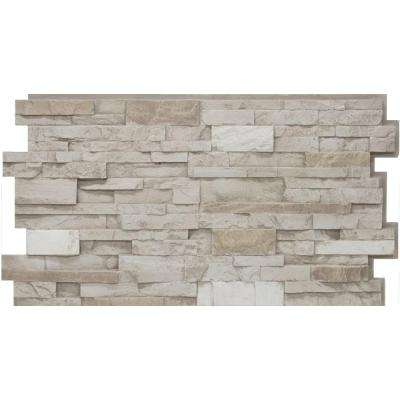 24 in. x 48 in. Stacked Stone #45 Almond Taupe Stone Veneer Panel