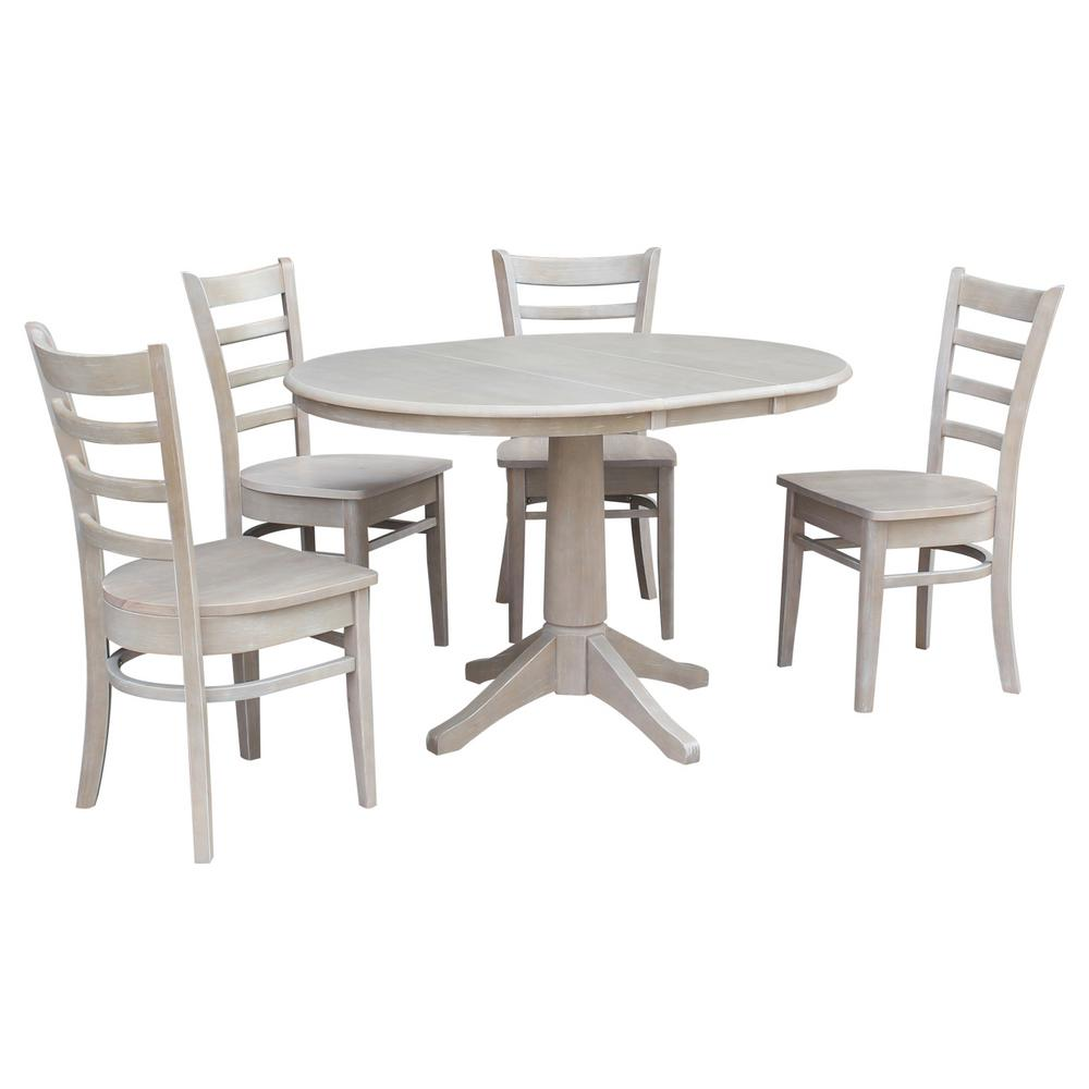 International Concepts Oval Weathered Set Emily Chairs