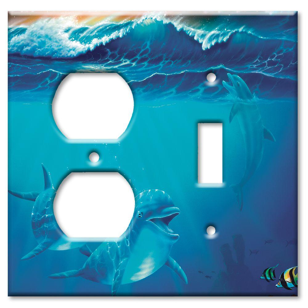 Art Plates Dolphins at Play Outlet/Switch Combo Wall Plate