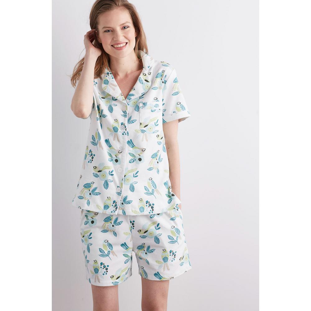 c5f991b030 The Company Store Cotton Flannel Women's Medium Birds Pajama Short Set