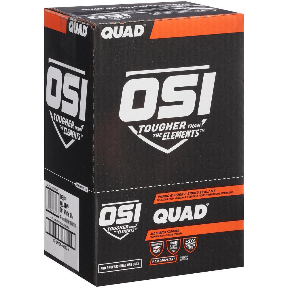 QUAD Advanced Formula 10 fl. oz. Beige #418 Window Door and Siding Sealant (12-Pack)